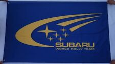 Free Ship to USA - SUBARU RALLY Blue wrc FLAG BANNER 3x5 feet impreza wrx xv