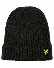 Lyle & Scott True Black / Jade Green Beanie Hat - HE905A-Z655