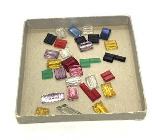 Vintage Lot of Baguette Glass Czech Rhinestone Beads lot