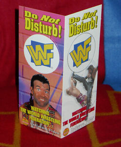 WWF : Do Not Disturb Door Hanger Coliseum Video Wrestling Razor Ramon, Diesel