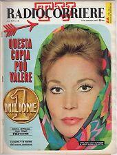 rivista TV RADIO CORRIERE ANNO 1967 NUMERO 38 LUISA RIVELLI