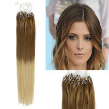 """18""""50g Micro Ring Beads Human Hair Extensions Dip Dye Ombre Hair Brown Blonde"""