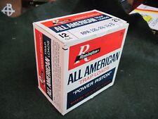 REMINGTON ALL AMERICAN SHOTGUN SHELL BOX VINTAGE ORIGINAL TRAP LOAD EMPTY 12 GA