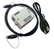 Toslink S/PDIF Coax Optical Fiber Digital to RCA Analog Audio Converter Adapter