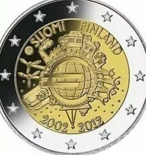 Finland Coin 2€ Euro 2012 Commemorative 10y Ten Years Euro TYE new UNC from Roll