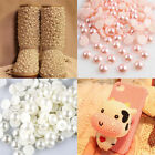 2000pcs Half Round Pearl Bead Flat Back Size 2-8mm Scrapbook for Craft 32 Colors