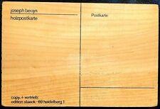 JOSEPH BEUYS - Holzpostkarte / Wood Postcard (1974) - ORIGINAL RARE