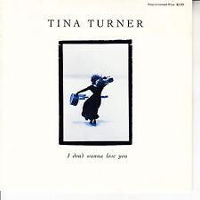 "TINA TURNER I Don't Wanna Lose You PICTURE SLEEVE 7"" 45 rpm + juke box strip NEW"