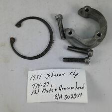 1951 Johnson 5 Hp TN-27TN 27 Nut Plate Gearcase Gear Case Head 302304 Outboard