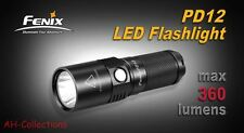 Fenix pd12 CREE xm-l2 (t6) LED Torcia Flashlight 360 Lumen Batteria Incl.