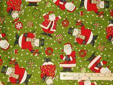 Ho Ho Holiday Debbie Mumm Christmas Santa Snowman Fabric by the 1/2 Yard #67450