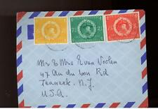 1957 Curacao airmail  Cover Boy Scout Set to USA