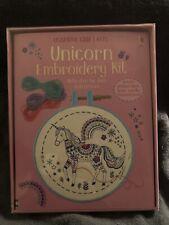 Usborne Craft Kits Unicorn Embroidery Kit for Children Age 7+