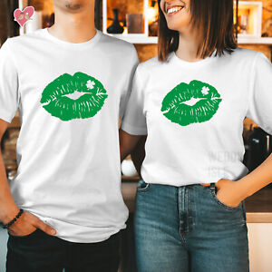 St Patricks Day T shirt Happy St Patricks Day Tshirt LUCKY IRISH KISS LIPS 256