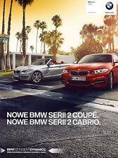 BMW 2 Coupe Cabrio 2015 catalogue brochure polonais Poland