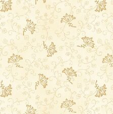 100% Cotton, Pheasant Run 8030-44 Cream, Henry Glass, By the Yard