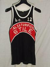 Shirt Maillot Tank Top Basketball Match Worn Abc Castelfiorentino n °12 80'S
