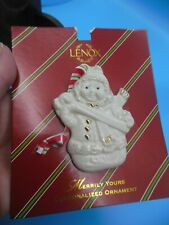 "Lenox ""Merrily Yours"" Personalized Ornament-Add Your Name-3"" X 2 1/2"""