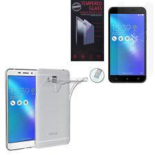 """Etui Coque Gel UltraSlim Asus Zenfone 3 Max ZC553KL 5.5"""" + Film Verre Trempe"""