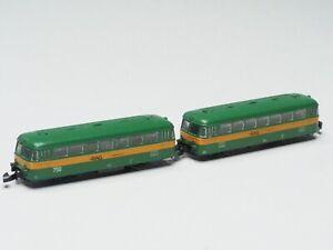 88817 Marklin Z-scale Powered German RAG Railbus Railcar +Trailer with light