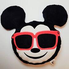 """Disney ~ Mickey Mouse Emoji Pillow ~ Red Sunglasses ~ StuffedPlush 13"""""""