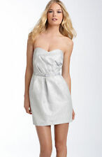 NEW Alexia Admor Strapless Metallic Satin DRESS $248 Size SMALL NORDSTROM