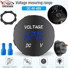 Led Digital Voltmeter Car Motorcycle Voltage Volt Gauge Panel Meter 12v 24v Dc