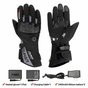Motorcycle Riding Heated Gloves Waterproof Fabric USB Rechargeable Cycling Tool