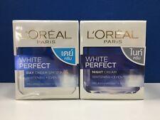 50ml.L'Oreal White Perfect Day Cream SPF17 PA++ and Night Cream Whitening Cream