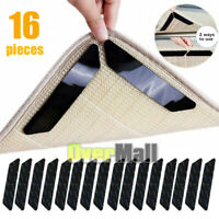 Rug Grippers, Rug Pad ,16Pcs Renewable Carpet Tape Pad Corner Stickers Anti Slip