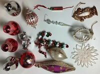 Mixed Lot Of 15 Christmas Ornaments. Some Vintage, Some Very Unique