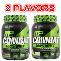 MusclePharm Combat 100% Whey Protein Build Muscle Chocolate Milk Vanilla 2 lbs
