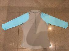 100% Autentico Nike Da Donna Mezza Zip Manica a 3/4 TENNIS SWEATER TOP! MEDIUM
