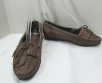 Walkables Comfort Brown Leather Women's Slip On Shoes Loafers US Size 7.5 W