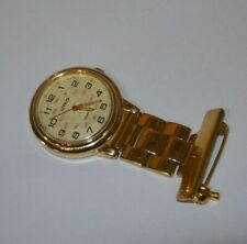 LOVELY  GOLD NURSES FOB WATCH BY LORUS - FULLY WORKING