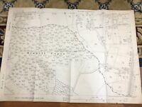 1921 Mappa Antica Di Hampshire Rowhill Copse Hants Grande Vintage Originale