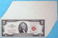 1963 $2 Star Notes 25-Consecutive Fr#1513* Two Dollar Red Seal Sequential