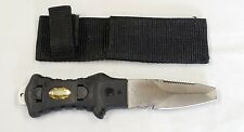 Scuba Diving Divers Knife with Stainless Steel Blunt Tip & Sheath /Taiwan /6.75""
