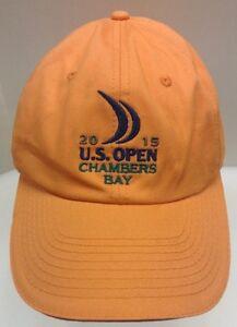 US Open 2015 Chambers Bay Golf Hat Cap Spieth USGA Member Men OSFA Orange