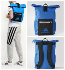 adidas Backpack School Gym College Blue Black Kit Sports Bag Laptop Rucksack NEW