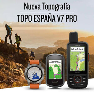ORIGINAL Mapa Garmin TOPO España V7 PRO Spain 2021 (incluye guía)
