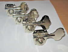 Set of 4 Chrome In-Line Bass Tuners Marked CF Martin & Co / Made in Germany