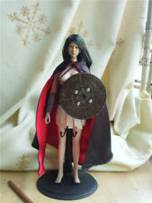 """1:6th Figure Accessory Red&Black Ancient Cloak For 12"""" Male&Female Body Doll Toy"""