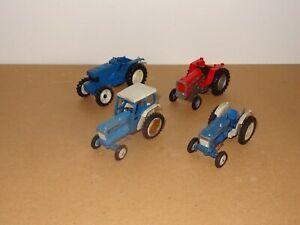 4 x Vintage Britains Ltd Farm Tractors For Spares, Repairs or Restoration