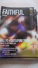 7.9.2003 Hull FC v Castleford Tigers programme