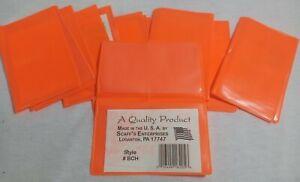 (10)Scaff's Enterprises Vinyl Double Hunting/Fishing License Holder Blaze Orange