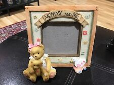 """Mommy And Me Cherished Teddies 4.75"""" Picture Drake Fits 3.25x3"""" Photo"""