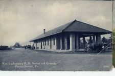 POCONO SUMMIT PA POSTCARD 1914 mailed NEW DL&W LACKAWANNA RAILROAD DEPOT