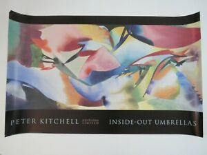 """58"""" x 36"""" lithograph print poster Peter Kitchell abstract colorful Art fine"""
