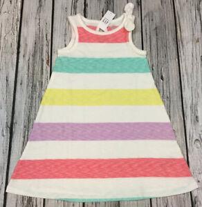 Baby Gap Girls 5 / 5T Bright Striped Sundress Sress. Nwt